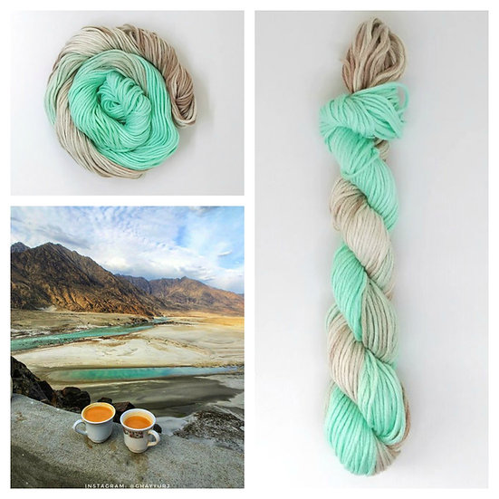 Indus available in 4ply, DK, Aran, Sock in Wool and Cotton