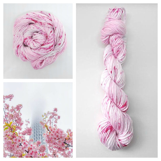 Sakura available in 4ply, DK, Aran, Sock in Wool and Cotton