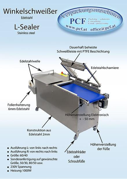 Winkelschweißer L-Sealer Stainless steel PCF