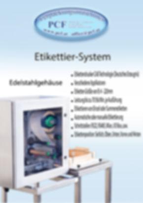 CAB Etikttiersysteme PCF Verpackungsmaschinen
