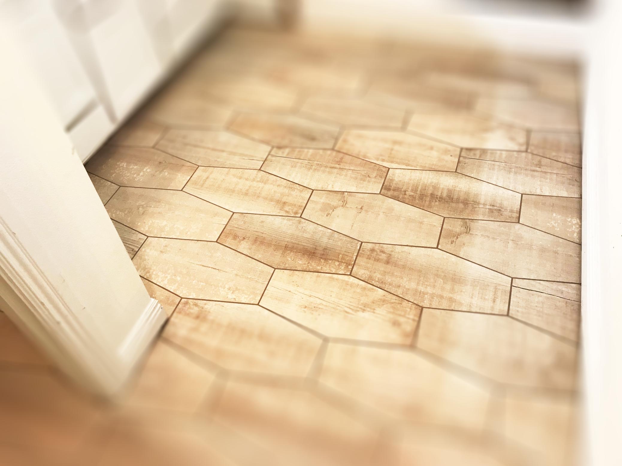 Shapped Tile Floor