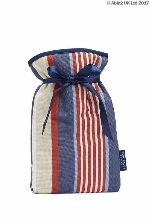 Blue Badge Mini Hot Water Bottle - Steller Strip Blue/Red Cotton