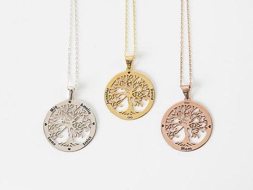 Tree Of Life Necklace • Custom Family Tree Necklace