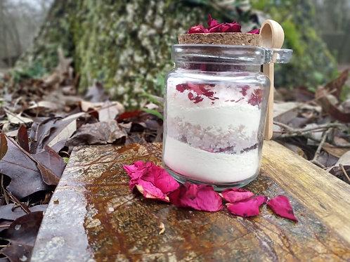 Hemp Oil Milk Salt Bath- Rose and Patchouli