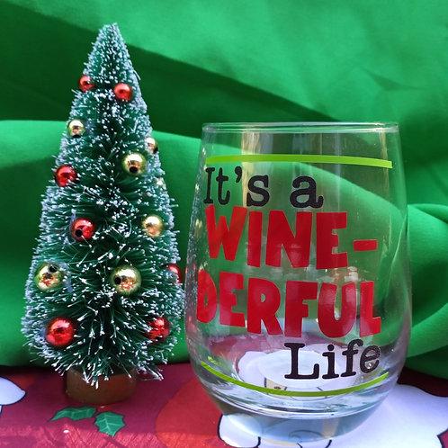 It's a WINE-DERFUL Life Stemless Wine Glass