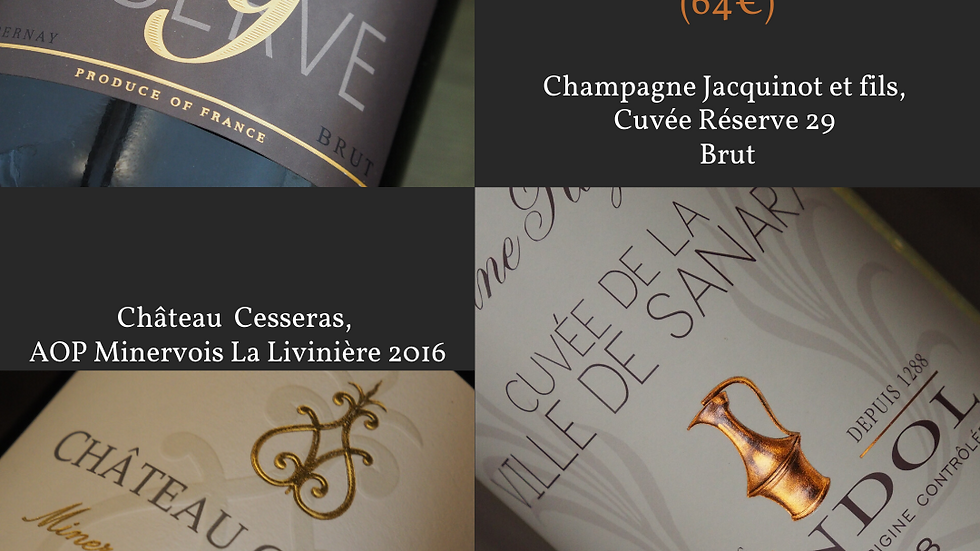 Coffret n°5 Trio Champagne - Provence - Languedoc