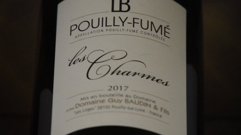 """Domaine Guy Baudin et Fils, Cuvée """"Les Charmes"""", AOP Pouilly-Fumé, 2017"""