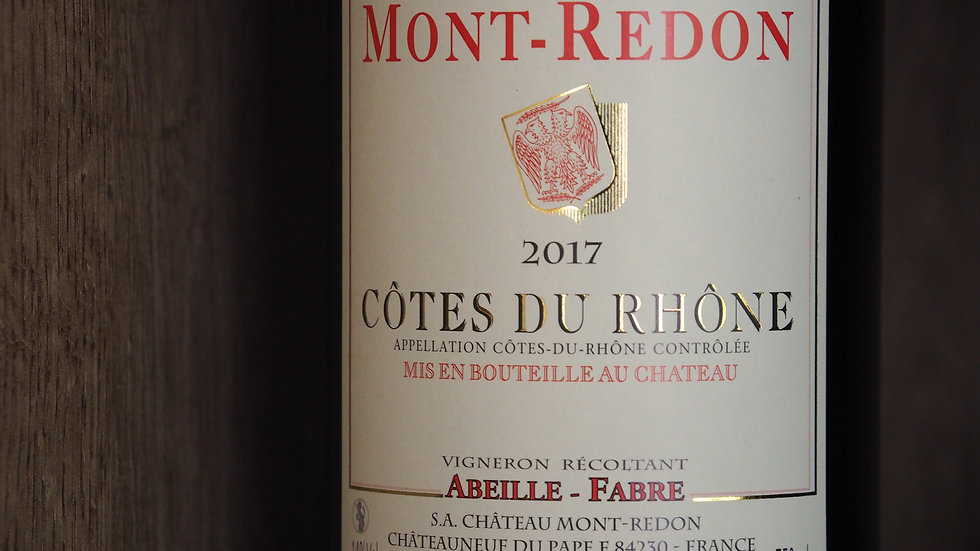 Château Mont-Redon, AOP Côtes du Rhône Rouge, 2017