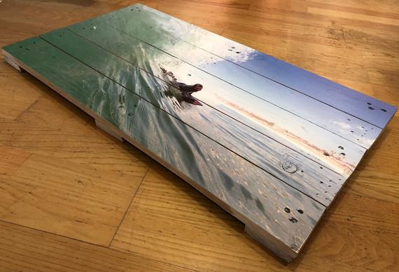Impressão direta em madeira de palete