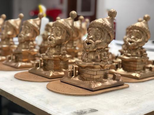 Impressão 3D | Troféu Pai Natal com 20cm altura