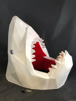 Impressão 3D | Tubarão com 40cm altura pintado à cor