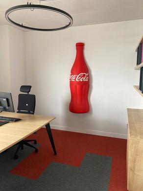 Impressão 3D | Garrafa Coca-Cola | 170cm Altura | Pintada a 2 cores