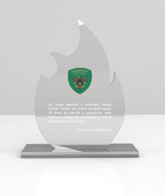 Bombeiros do Estoril   Projeto troféu em acrílico