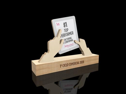 Millennium   Projeto troféus em bétula