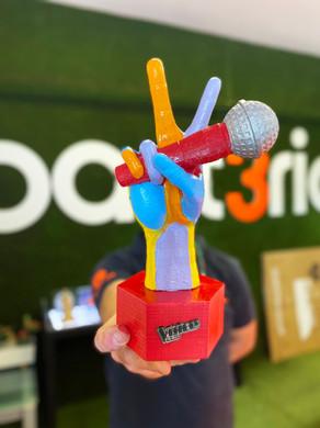 Impressão 3D | Troféu The Voice Kids