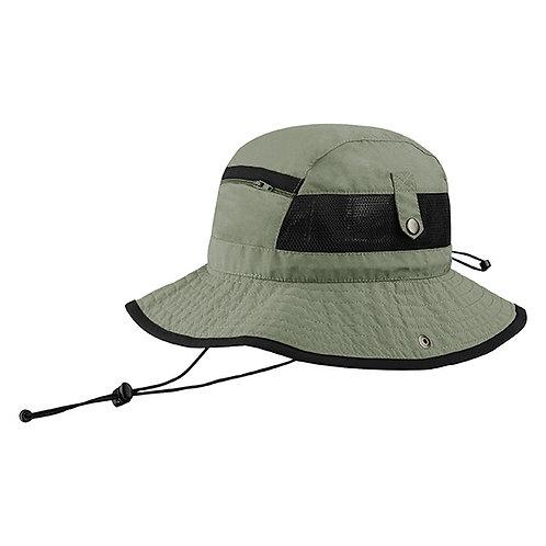 7225- Juniper Taslon UV Bucket Hat w/ Zipper Pocke