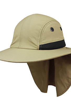 7002- Juniper 4 Panel Flap Cap w/ Wide Brim