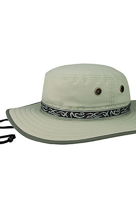 7265- Taslon UV Hat W/Jacquard Ribbon