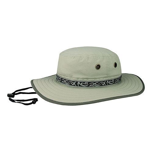 7265- Taslon UV Hat W/Jacquard Ribbon