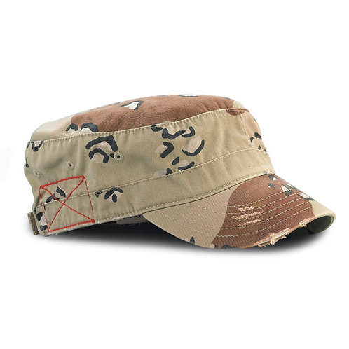 9029- Enzyme Washed Cotton Twill Army Cap