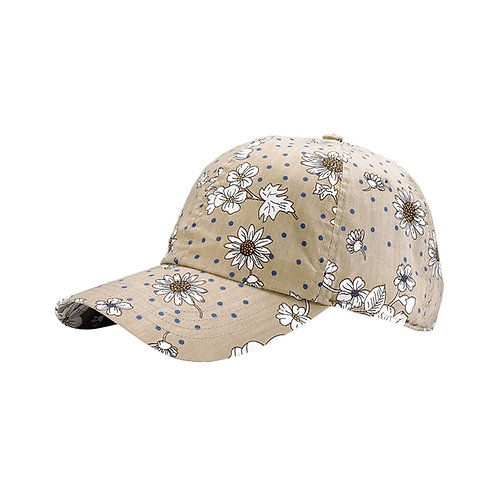 7645- Low Profile (Uns) Flower Print Cap