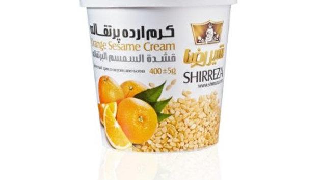 """Кунжутная паста """"Shirreza"""" тахини со вкусом апельсина 400 гр. (Иран)"""