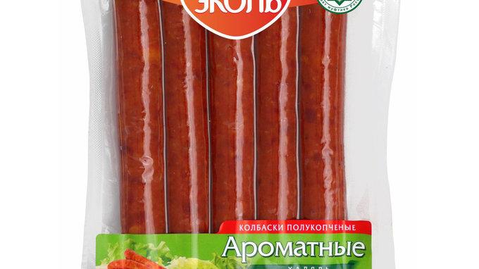 """Полукопченые колбаски """"Ароматные Халяль"""" 300 гр. в/у"""