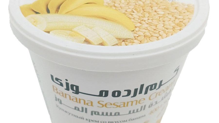 """Кунжутная паста """"Shirreza"""" тахини со вкусом банана 200 гр. (Иран)"""