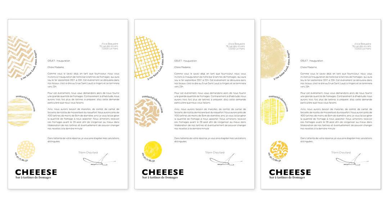 Papier courrier entete famille formage c
