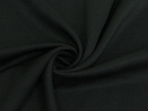Вискоза сатин стрейч чёрный