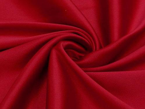 Костюмный сатин стрейч красный
