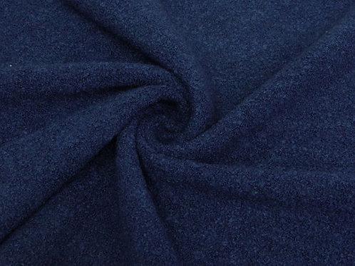Трикотаж пальтовый букле синий