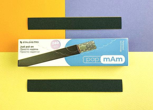 Набор сменных файлов-чехлов для пилки прямой papmAm Staleks Pro Expert, 240 грит