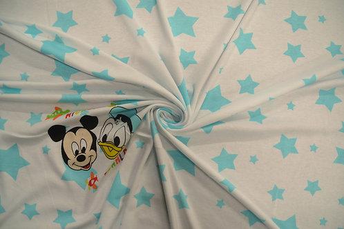 """Интерлок набивной """"Mickey и Donald"""""""