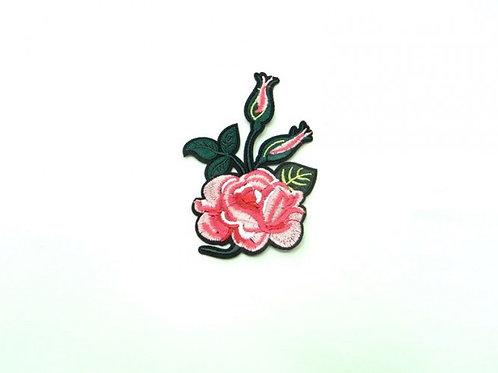 Аппликация клеевая Роза с бутонами