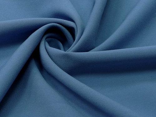 Вискоза твил стрейч темно-голубой