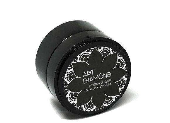 Гель-краска для тонких линий с л/с Art Diamond черная