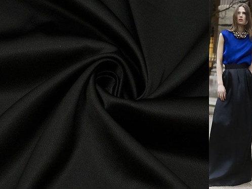Костюмный сатин стрейч черный