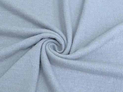 Трикотаж пальтовый букле серо-голубой