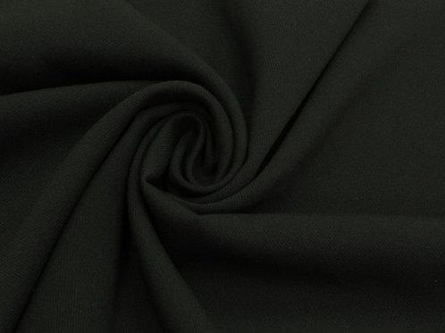 Вискоза твил стрейч чёрный
