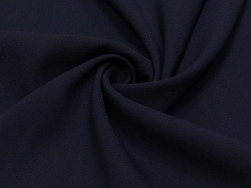 Вискоза твил стрейч темно-синий