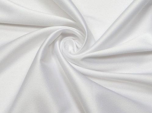 Костюмный сатин стрейч белый
