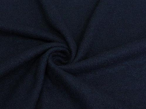 Шерсть лоден букле темно-синий