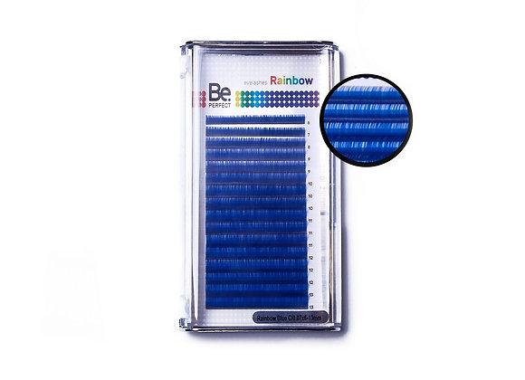 Цветные ресницы Be Perfect Rainbow Blue Mix 16 линий