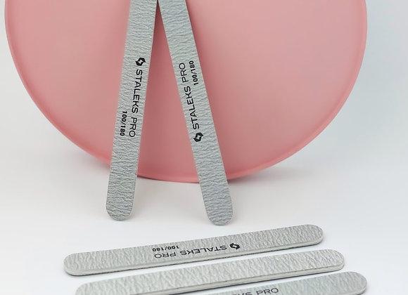 Пилка для ногтей, минеральная (прямая), Staleks Pro Smart (5шт.), 100/180 грит