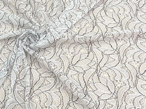 Кружевное полотно стрейч Белый