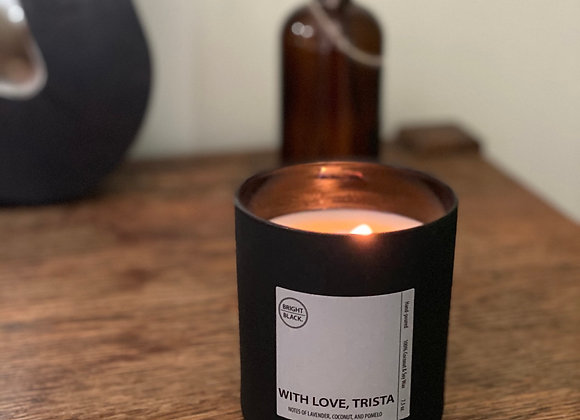 With love, Trista Candle