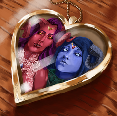 Ruby and Sapphire Locket