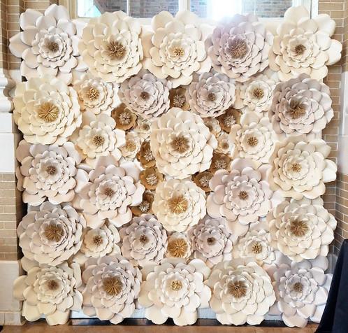 8 x 8 Paper Flower Wall   Dallas Weddings   Carrollton   Coalesce ...