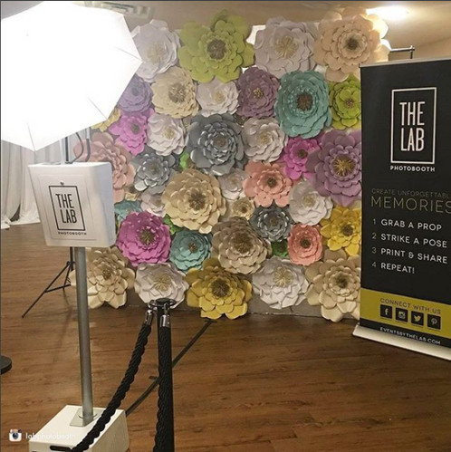 8 x 8 paper flower wall looking for a creative and unique way to add style to your wedding event conference workshop etc take a look at our custom paper flower backdrops mightylinksfo